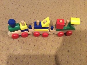 Wood Train Pull Toy Set