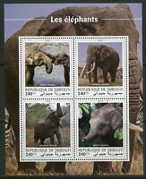 DJIBOUTI 2018 ELEPHANTS  SHEET MINT NH