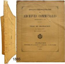 Inventaire sommaire archives communales avant 1790 Chateaudun 1885 Lucien Merlet