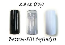 Empty Plastic Deodorant Containers - (Fancy) Reusable, Bottom-Fill 2.0 oz