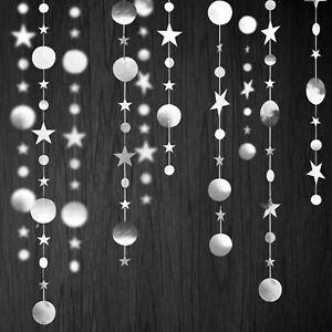 3x Glitter Star Garland Hanging Banner Wedding Birthday Party Xmas Wall Decor