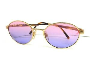 Sunglasses Les Copains Man Woman Vintage Made IN Italy Retro Metal Gold
