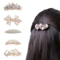 15mm Kristall Glas Perlen Haarreifen Haarschmuck Haarband fur Damen Vintag V3G2