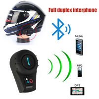 Interphone Intercom Casque Helmet Bluetooth walkie Pour Moto Motorcycle 500M