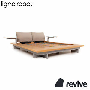 Ligne roset Wood Futon Double Bed 160 X 200 CM Bed Incl. Slatted Frame Incl. 2x