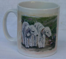 BEDLINGTON TERRIER DOG NEW MUG DESIGN OIL PAINTING PRINT SANDRA COEN ARTIST