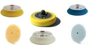 "Rupes Polishing Pad Kit | 5 Pads with lake country 3"" Backing Plate | DA Foam &"
