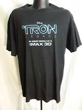 New listing Tron Legacy Disney Movie Tshirt Large Black Imax 3D Promo T-Shirt 2 Sided Print
