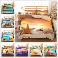 3D Sunshine Ocean Beach Bedding Set Duvet Cover Pillowcase Quilt/Comforter Cover