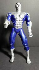 """Spider-Man Marvel 2000 Large Action Figure 10 1/2"""" Silver and Blue"""