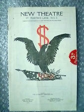 New Theatre Programme- Olive Blakeney,D Blakelock in SPREAD EAGLE by G S Brooks