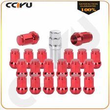 20 Pcs 12x1.5 Red For Honda Civic 7 Side Nuts Wheel Lug+1 key Hex size tool 17mm