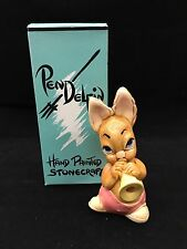"Pendelfin ""Phumf Pink"" Rabbit Playing Trumpet Nib!"