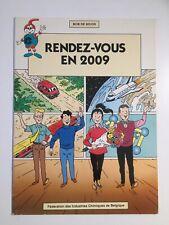 BOB DE MOOR RENDEZ VOUS EN 2009 - PUB 1988 - BD PUBLICITAIRE FICB MOLECULE