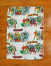 Super Friend Super Villains Sheet Flat Twin Sized Sheet Fabric Vintage 1976 Rare