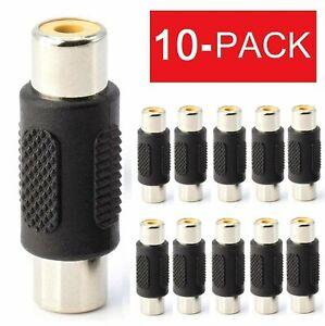10-Pack AV RCA Audio Video Female to Female Jack Coupler Adapter Connector