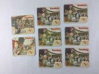 Lot of 8 Vintage Beer Bar Coaster Christmas Kronenbourg Brewery Made in Germany