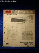 Sony Service Manual TA V33 / V33W Amplifier (#0837)