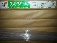 Yupo FEB 110  -   85 GSM (110 micron) Synthetic Paper 10 sheets 1020mmx760mm