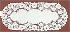 "BIANCO, Pizzo, tavolo ovale Runner NUOVO (50cm x 120cm) (20""x 47""), elegante regalo"