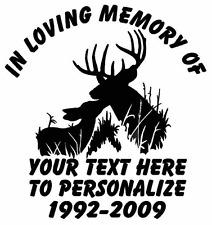 "In Memory Of  Deer Truck Stickers  6"""