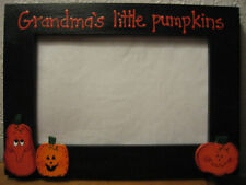 GRANDMA'S LITTLE PUMPKINS - Happy halloween Grammy holiday photo picture frame