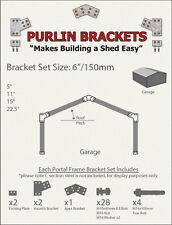Industrial Shed 6inch C Section Purlin Bracket Set-Garage-Farm-Barn-Steel Plate