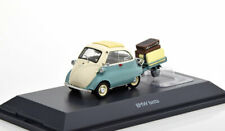 1:43 Schuco BMW Isetta with trailer turquoise/creme