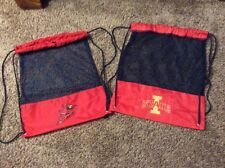 Lot of 2 Iowa State Cyclones String Pack Mesh Drawstring Backpack