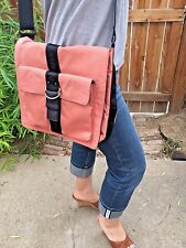 Vintage Ralph Lauren Peach/Coral Messenger Cross Body Shoulder Bag 90s RARE!