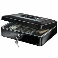 Sentry Safe Small Black Cash Box w Removable Tray Key Lock Money Files Security