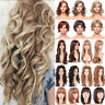 Attractive Ombre Brown Blonde Cosplay Wig Long Wavy Curly Heat Resistant Hair Se