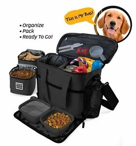 Overland Dog Gear 'Week Away' Bag Medium/Large Pet Travel Holiday Storage, Bowls