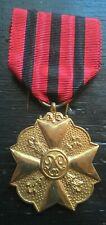 belgische penning médaille belge civique de 1er classe + lettre brief de 1931