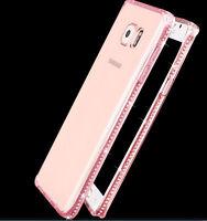 Silm Clear Crystal Diamond Bling Gel Soft TPU Case Cover For Samsung J3 J5 J7 S8