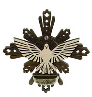 Wooden Holy Spirit Holy Water Font, Catholic Religious Gifts Favors