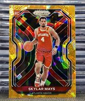 🔥2020-21 PRIZM Skylar Mays #255 Orange Cracked Ice✴️🧊Rookie RC Hawks