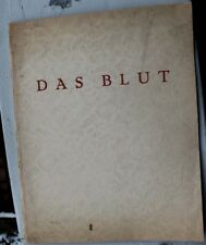 28609 Fred Antoine Angermayer DAS BLUT Sonettenzyklus 1923 Gedichte EA Dresden
