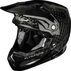 FLY RACING YOUTH FORMULA CARBON SOLID HELMET BLACK CARBON YL 73-4400YL