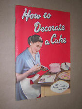 HOW TO DECORATE A CAKE. ANNE ANSON. c1950. TALA PROMOTIONAL BOOKLET.