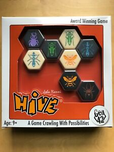 Hive tile strategy game with Pillbug, Ladybug and Mosquito expansions - NEW