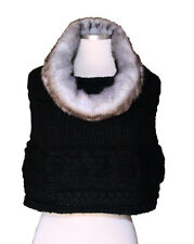 Winter Casual  Chunky Thick Knitted Fashion Winter  Headwrap Loop Scarf-BLACK