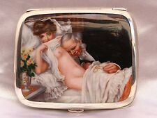 "MAGNIFICENT 19C GERMAN 935 HAND PAINTED BOX, DOCTOR VISITING THE LADY ""MUST SEE"""