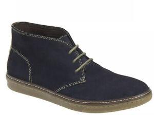 JOHNSTON & MURPHY J&M Mens Size 11M Navy Suede McGuffey Chukka Boots EUC!!