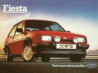 FORD FIESTA MKII XR2 RED POSTER PRINT CLASSIC 80's ADVERT A3