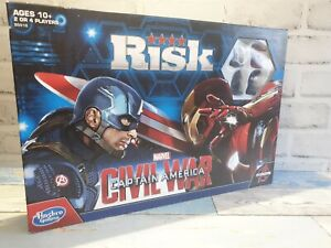 Hasbro Risk, Marvel Captain America-Civil War Edition Board Game- Avengers