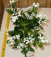 BEAUTIFUL WHITE 12 STEM GYPSO / BABY BREATH BUSH,SILK FLOWERS, FREE SHIPPING