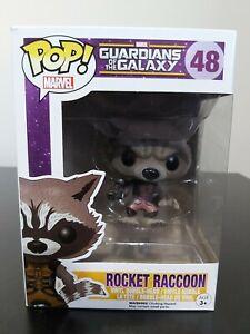 Marvel Funko Pop - Ravagers Rocket Raccoon (Flocked) - No. 48