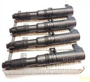 4x ignition coils for renault clio megane laguna 1.4 1.6 1.8 2.0 8200568671