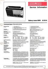 Service Manual-Anleitung für Nordmende Galaxy Mesa 9000, 6.100 A